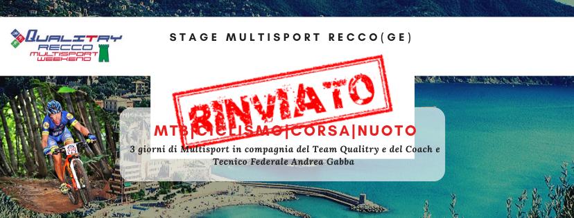 Rinviato lo Stage Multisport di Recco (GE)